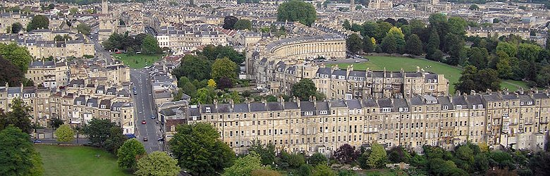 Birds' eye view of the Royal Crescent