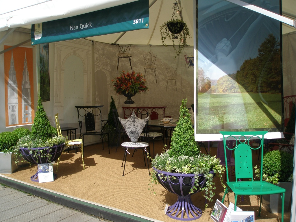 Our Chelsea Flower Show tent, on the grounds of Christopher Wren's Royal Hospital
