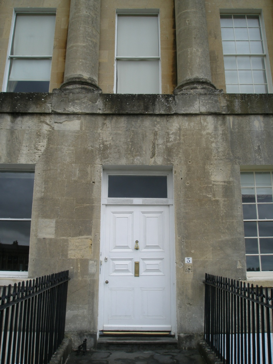 A Woefully Unadorned front door at The Crescent