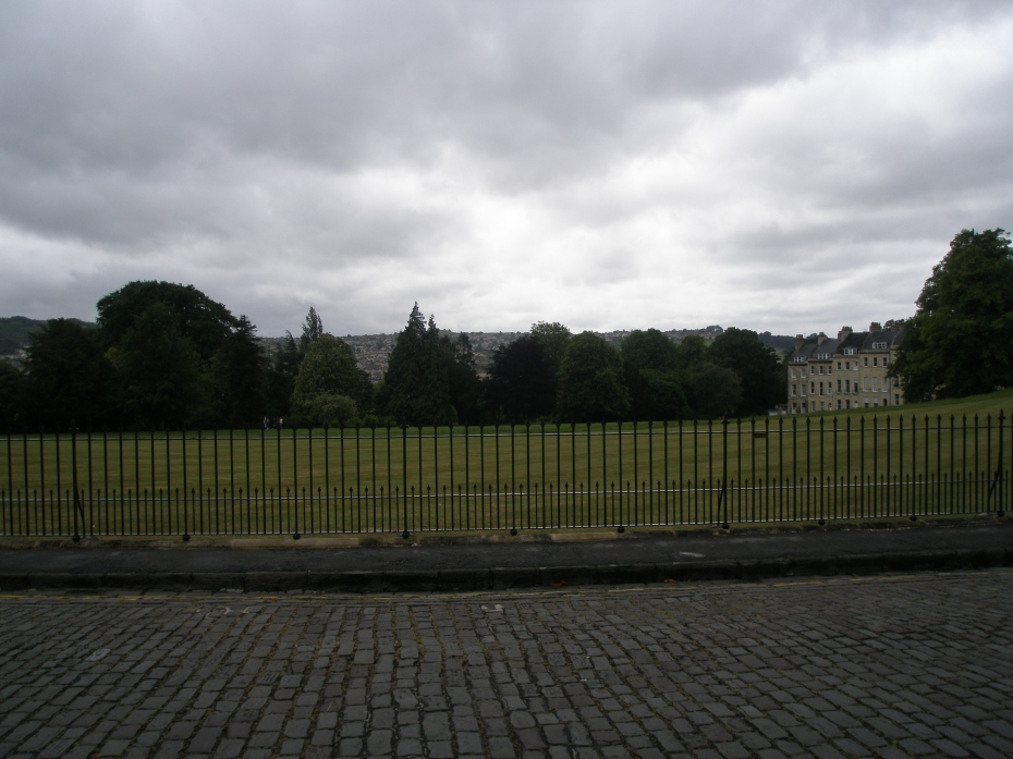 More of England's tempermental skies (which I love) over the Royal Crescent's great lawn