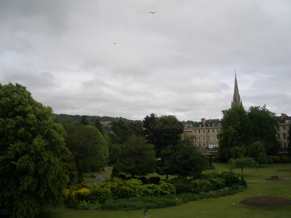 View of Parade Gardens, which were open only to subscription holders, as so many city gardens in England still are