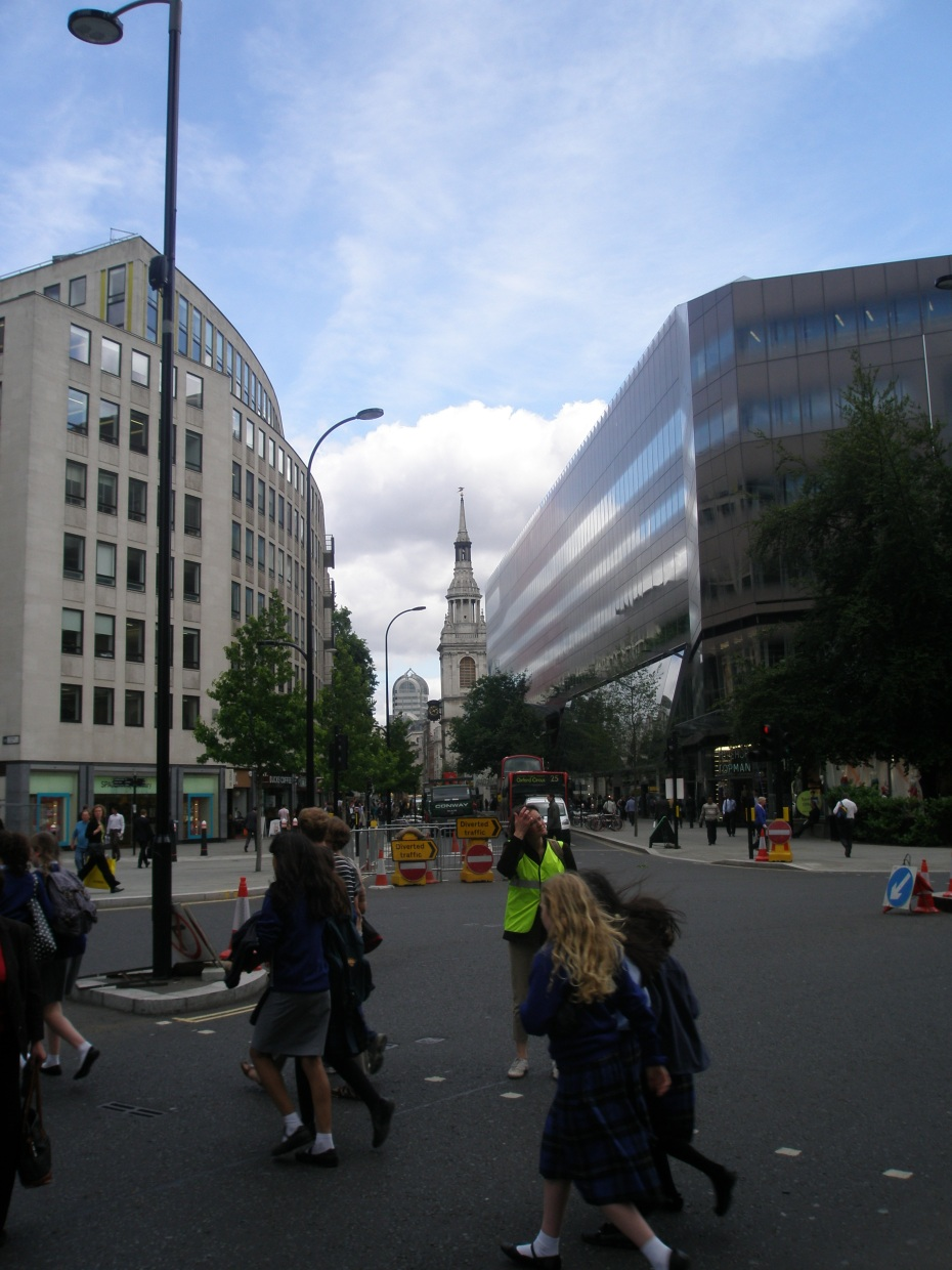The spire of St.Mary-Le-Bow, is in the distance