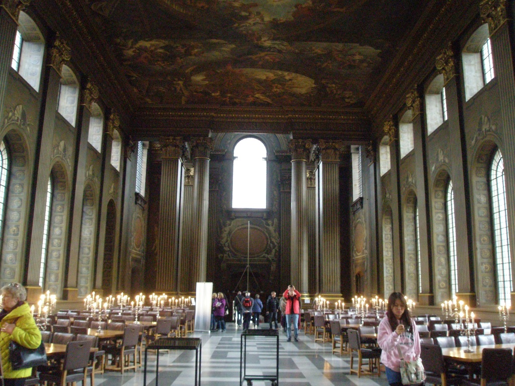 Looking back toward the entrance hall of The Painted Gallery