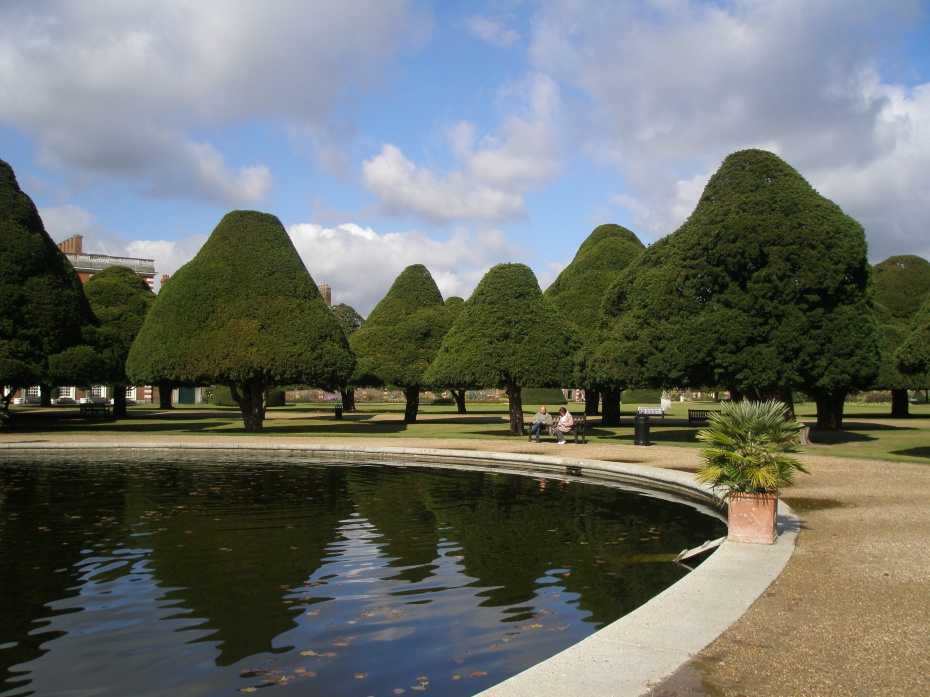 Giant-Topiary-Heaven. These yew trees grew to their present heights during Lancelot Capability Brown's stewardship of the gardens in the mid-18th century, when he refused to prune them into unnatural shapes. Pruning was resumed in the early 20th century.