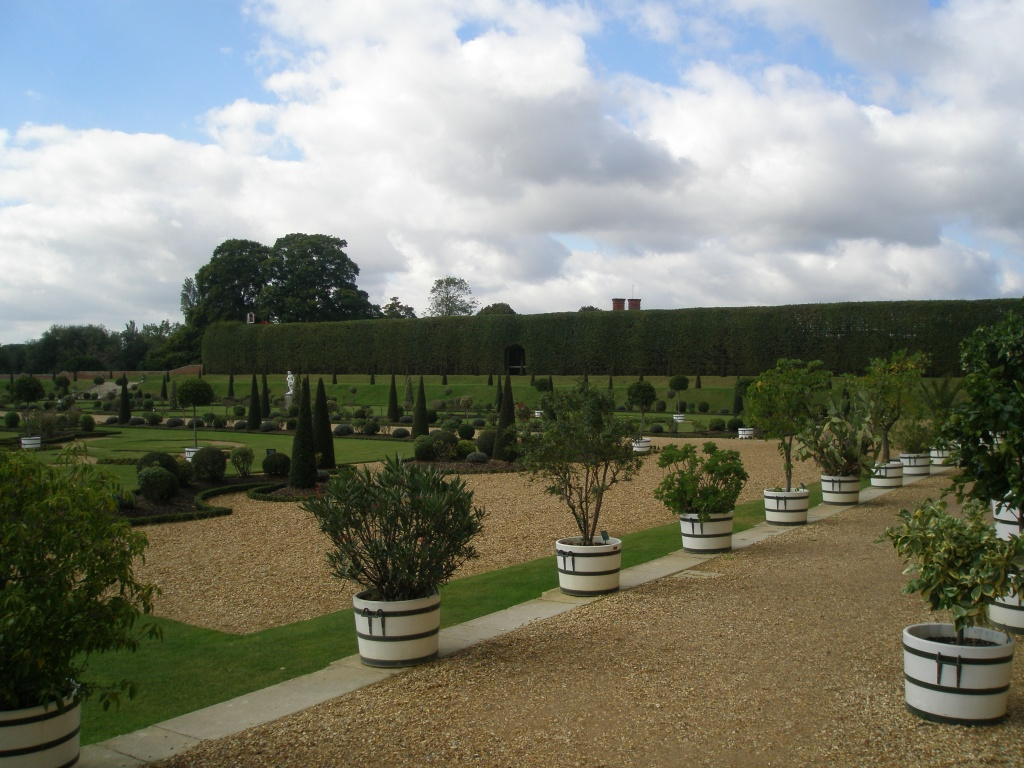 The Privy Garden, which was the monarch's own, private plot. The garden we see today is a restoration of William III's garden of 1702.