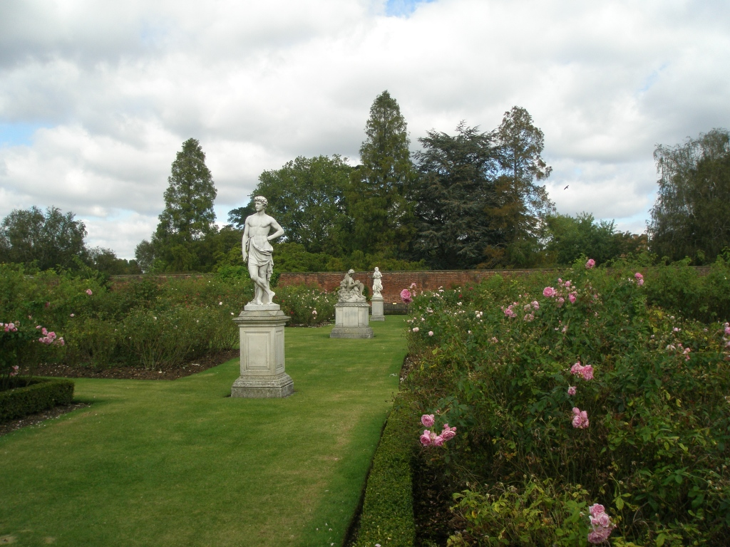 The Rose Garden, with statues of Flora and Adonis