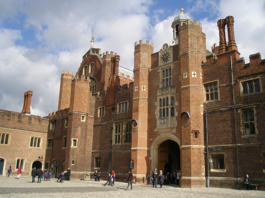 Anne Boleyn's Gatehouse, the middle gateway of the palace complex