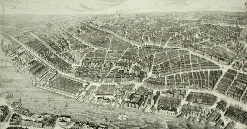 Liverpool, circa 1850. Hawthorne was U.S.Consul to Liverpool from 1853--1858.