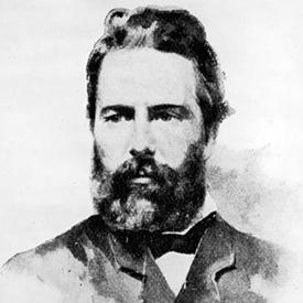 Herman Melville, who met Hawthorne in Lenox, MA.