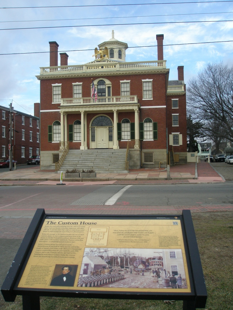 The Custom House, on Derby Street, across from the Derby Wharf area of the Maritime National Historic Site