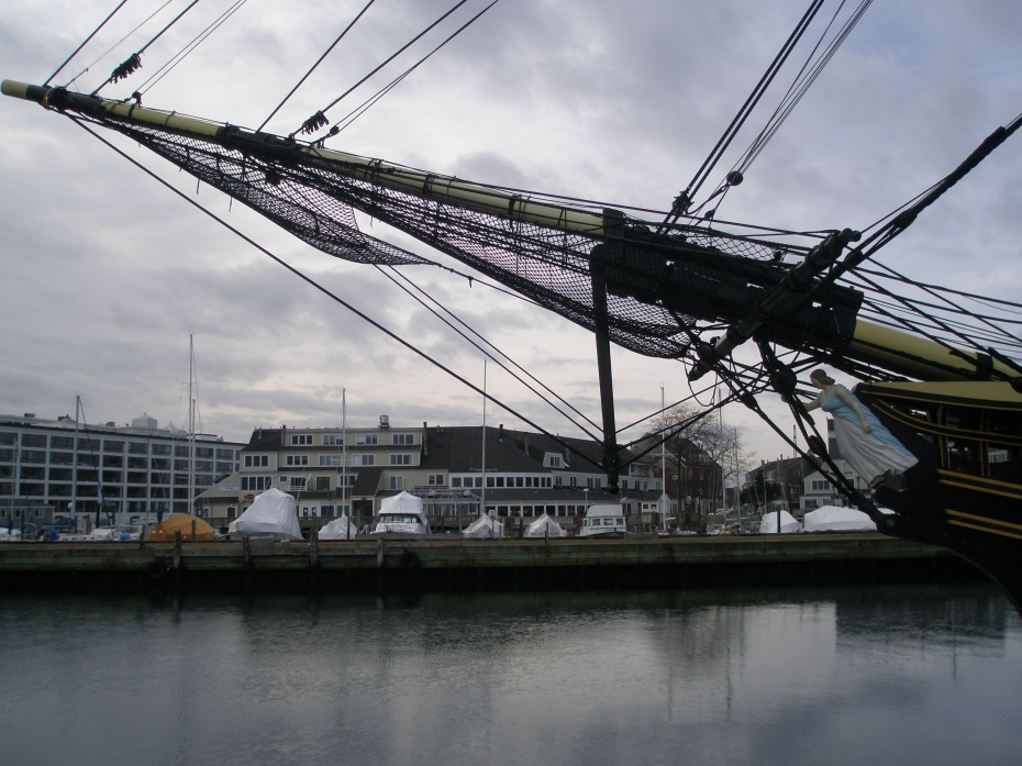 Prow of the FRIENDSHIP, with Pickering Wharf in the background