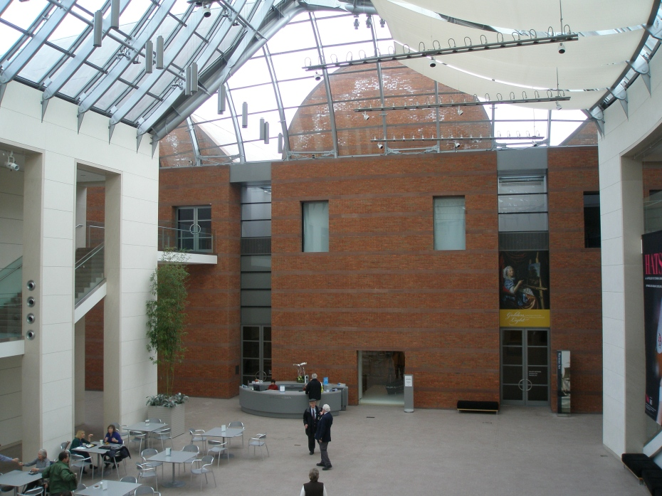 Atrium at Peabody Essex Museum, designed by world-renowned architect Moshe Safdie