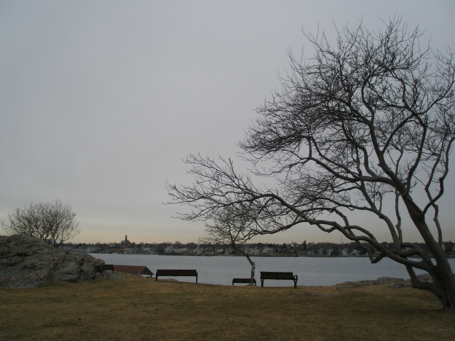On Marblehead Neck, looking back toward the village of Marblehead
