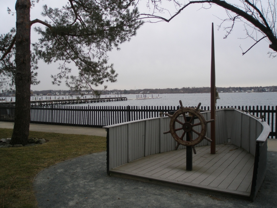 View of Salem Harbor from site of Hawthorne birthplace
