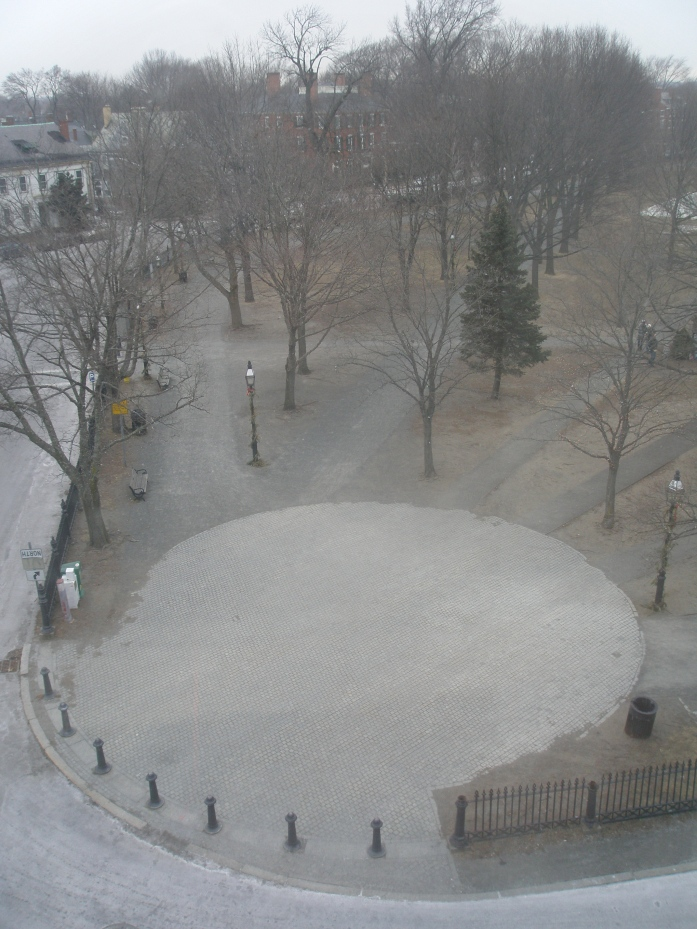 My pre-snowstorm view of Salem Common