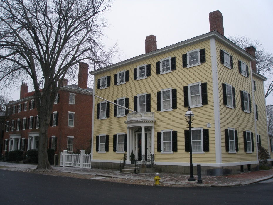 Dodge-Bartsow-West House. #25 Chestnut Street. Built in 1802.