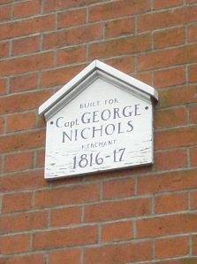 George Nichols House plaque