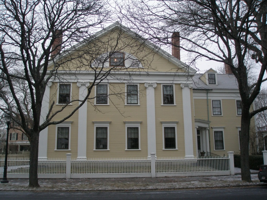 Lee-Benson House. #14 Chestnut Street. Built in 1835, this is one of the earliest examples of the Greek Revival style in Salem.