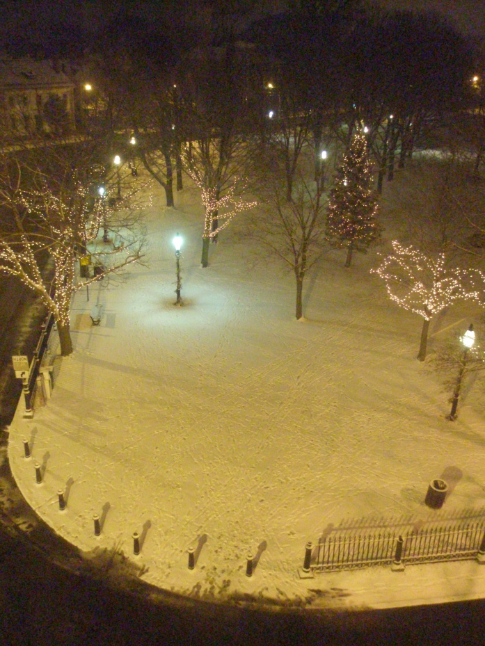 And Salem Common was finally asleep...as I was soon to be.