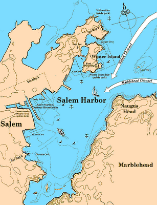 Salem Harbor Map