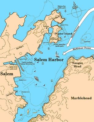 Salem Harbor Map