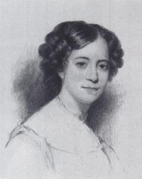 Sophia Peabody Hawthorne as a young woman.