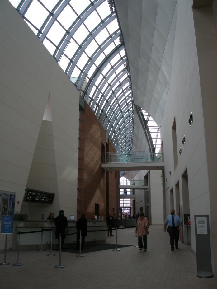Even on overcast days, and without artificial illumination, the Front Entry Hall is filled with light.