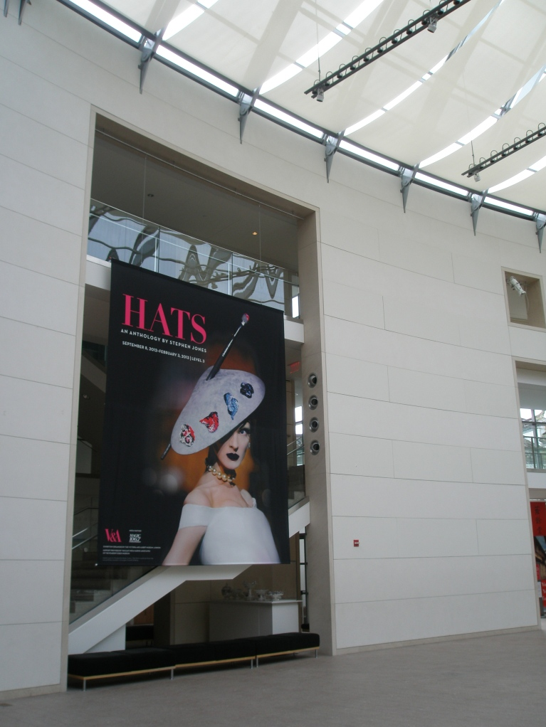 The now-closed HATS show banner at the Peabody Essex Museum.
