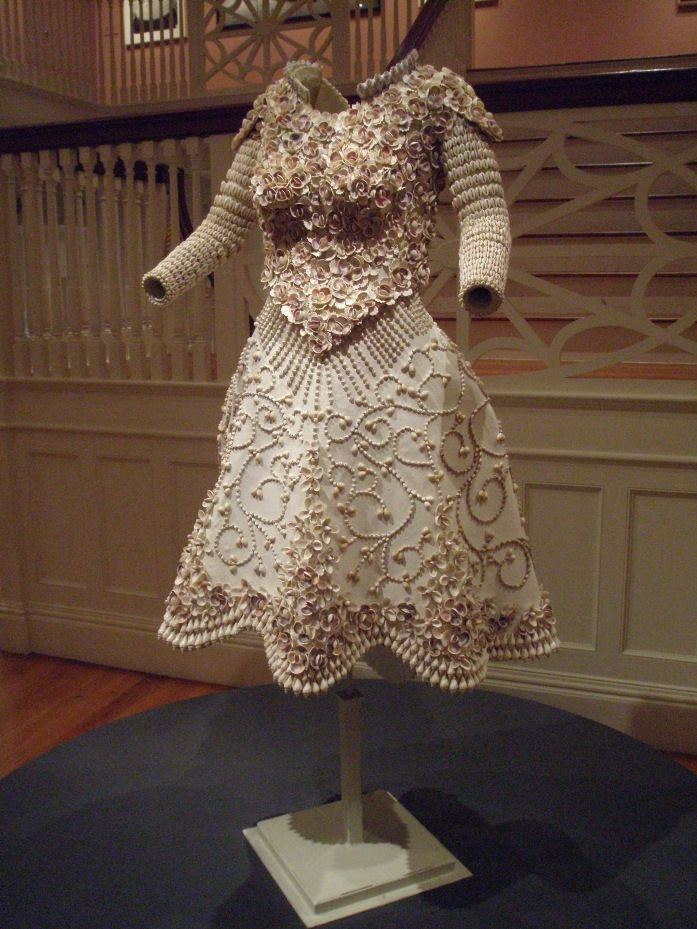 ISLAND BRIDE, by Brian White. Dress made largely of seashells. 2002.