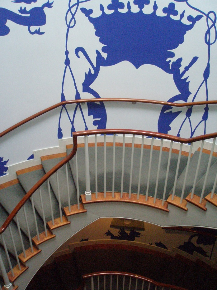 Another view of Michael Lin's painted stairwell