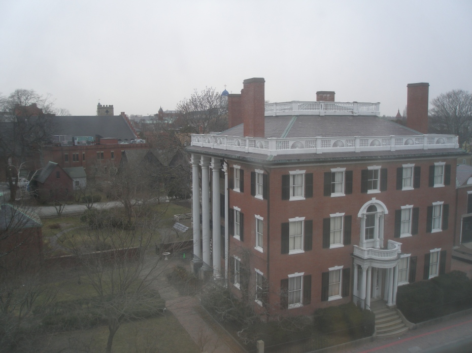 In my previous Salem-article, I ran this view of the Andrew-Safford House and Federal Garden, as seen from my lovely 5th floor room at the Hawthorne Hotel.