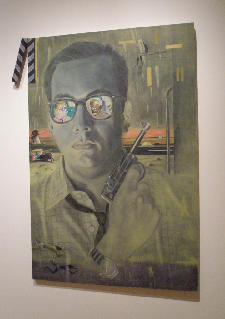 Atul Dodiya. THE BOMBAY BUNCCANEER. 1994 (note the reflection of the British painter David Hockney in the eyeglass lens)