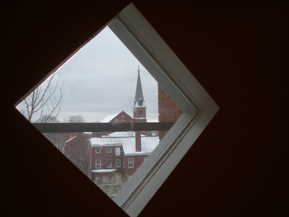 A glimpse of Salem, from 3rd floor Special Exhibition Gallery