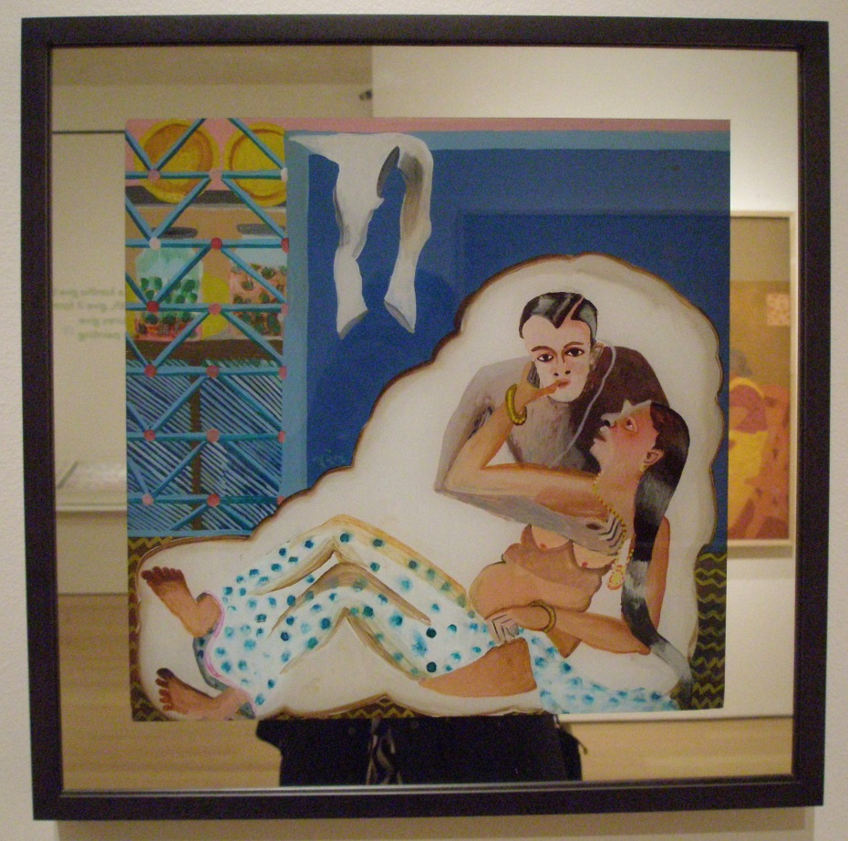 Bhupen Khakhar. MAN EMBRACING. 1980s.