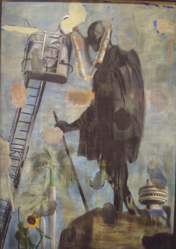 Atul Dodiya. 2ND OCTOBER. 1993.