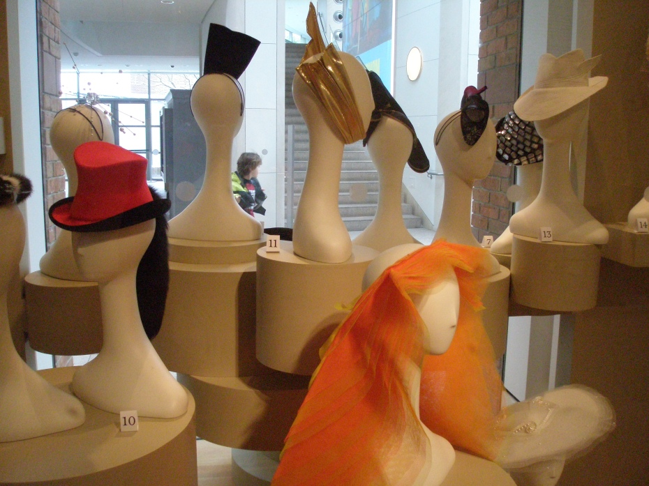 More hats, in the 1st floor American Art Gallery (across from the famous painting of Nathaniel Hawthorne...I wonder what he thought about all that finery....).