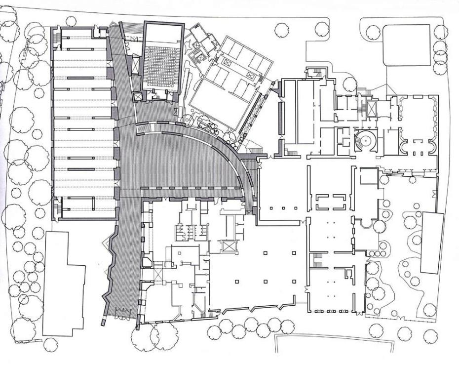 Ground Floor Plan of the Peabody Essex Museum. Courtesy of Moshe Safdie, Architect.