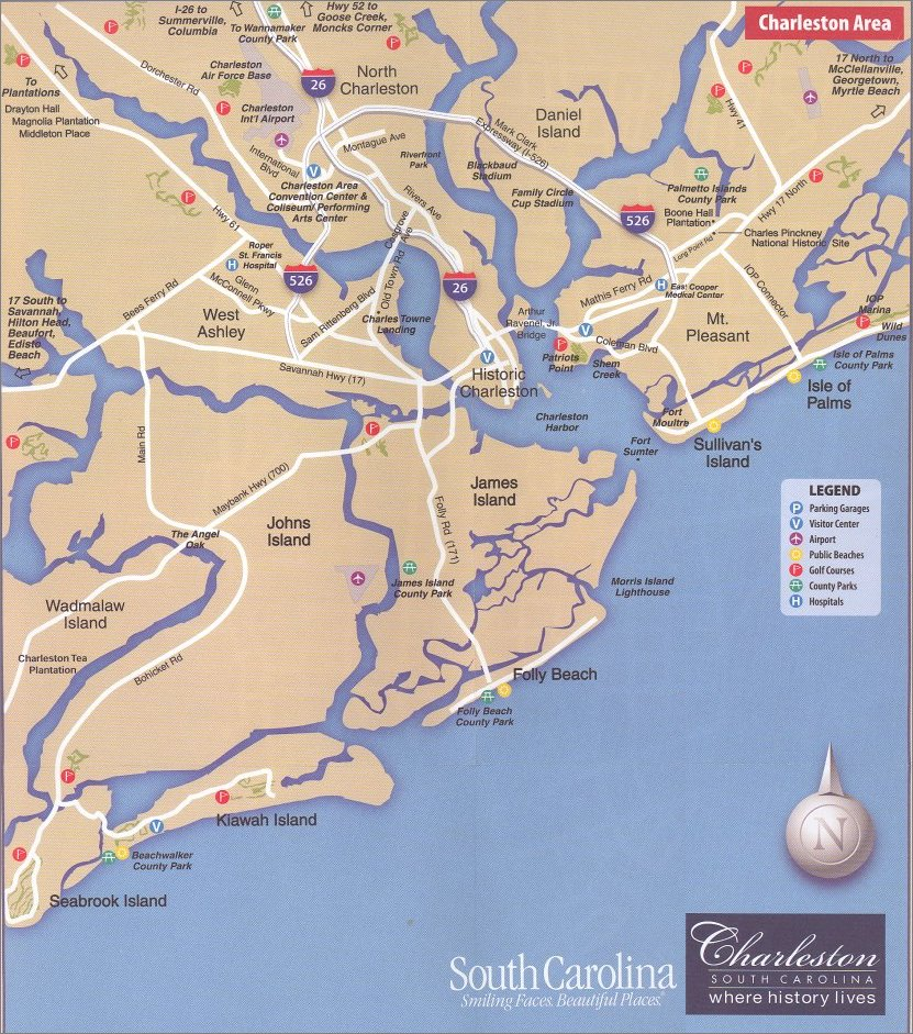 Charleston is on a peninsula, where the Ashley and Cooper Rivers join to form Charleston Harbor, which has always been one of the most important Ports on the Atlantic Seaboard.