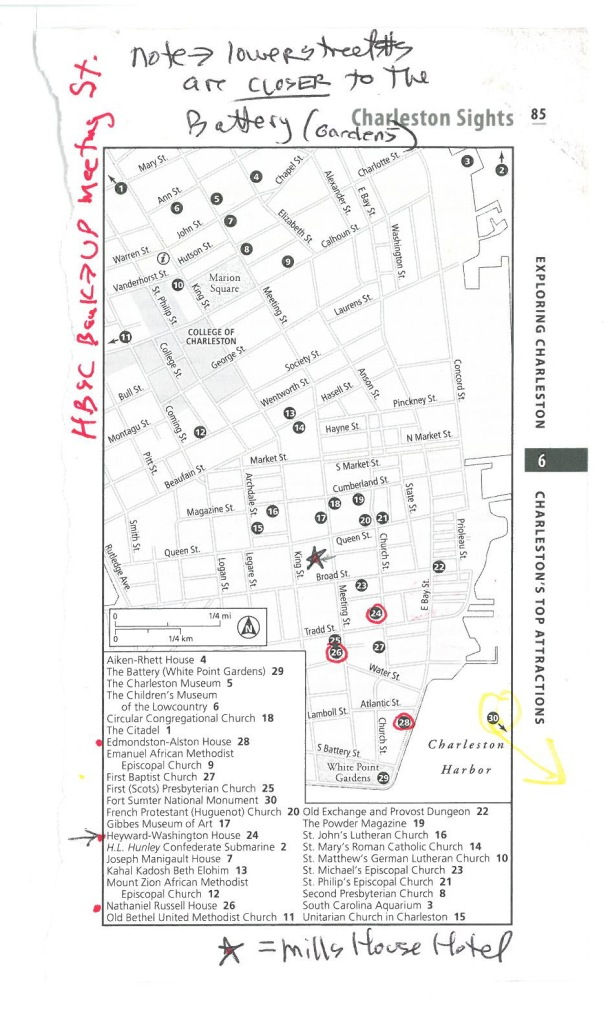 My scribbled-upon Street Map