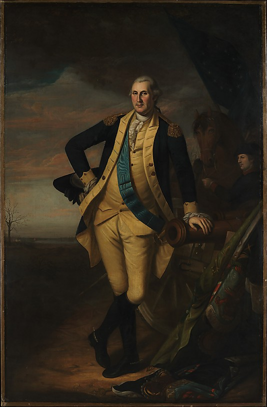 GEORGE WASHINGTON. By Charles Wilson Peale. 1779-81. Photo, courtesy of the MET.