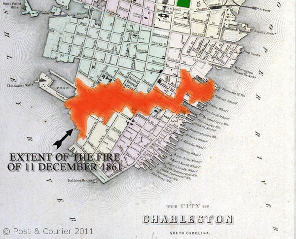 Insult added to Injury: the path of the Great Fire of December 1861.