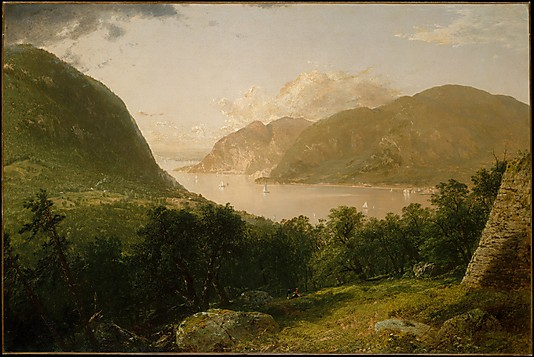 HUDSON RIVER SCENE. By John Frederick Kensett. 1857. Photo, courtesy of the MET.