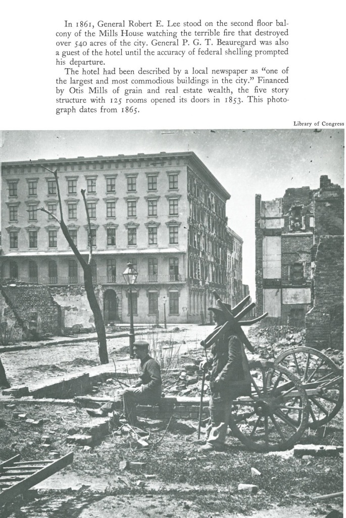 The Mills House after the Fire