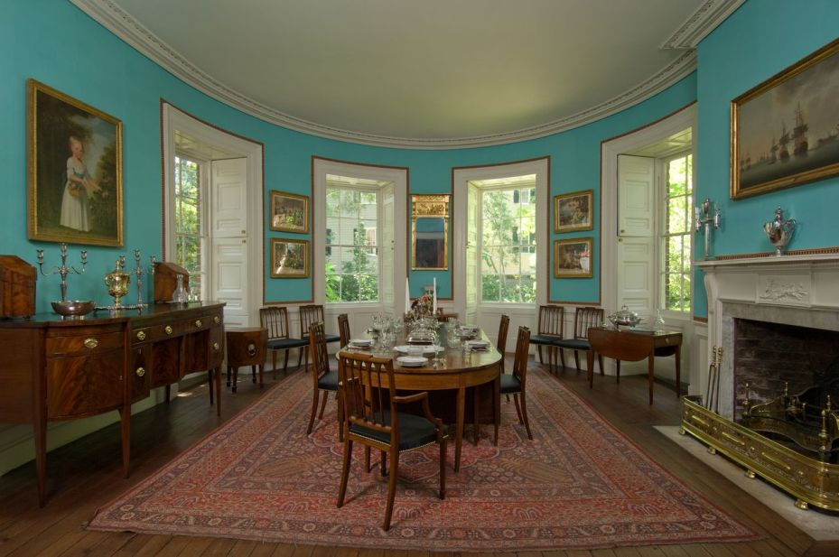 Oval Dining Room on first floor