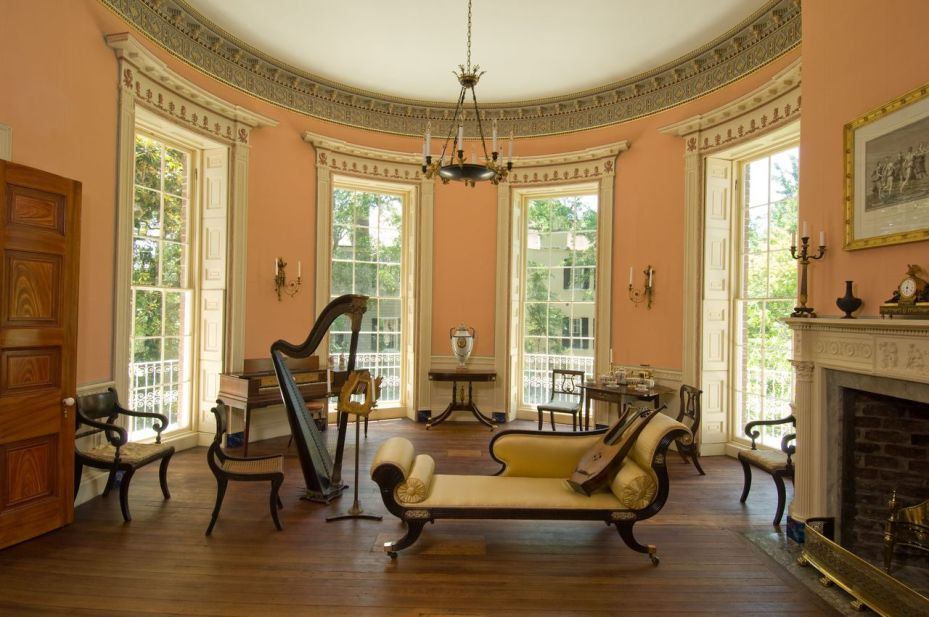 Oval Music Room on the second floor. It's hard to prefer one room over another, but I admit that I love this space the best of all.
