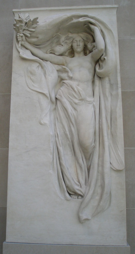 MOURNING VICTORY from the Melvin Memorial. By Daniel Chester French. 1906-08.