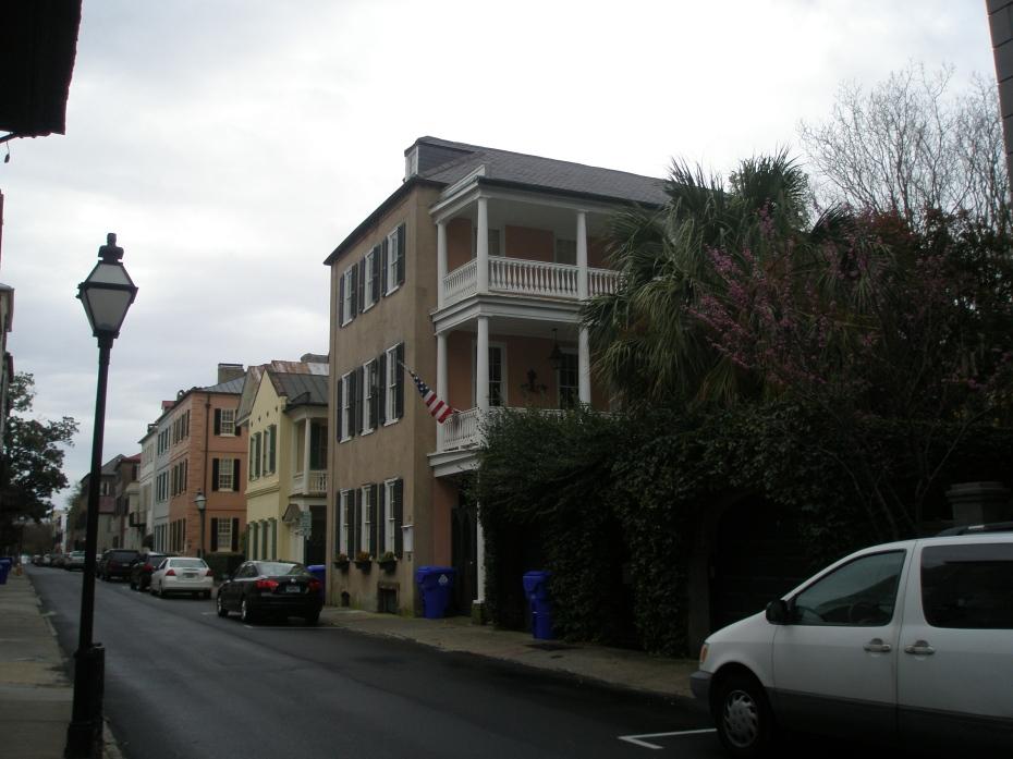 A Rainy-Day Streetscape