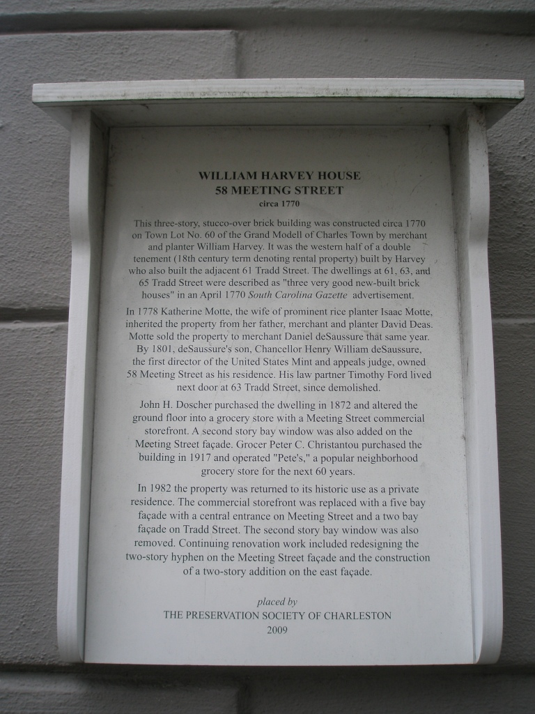 Plaque at William Harvey House