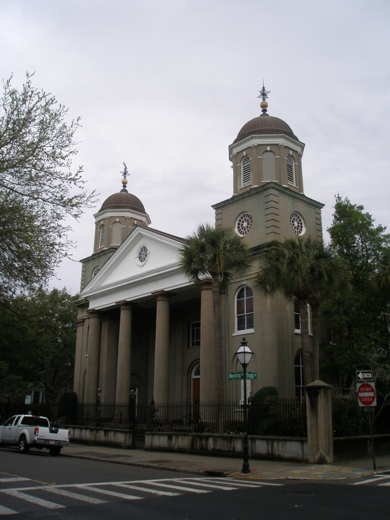 First Scots Presbyterian Church, directly across Tradd Street from the Branford-Horry House. The Church was constructed in 1814, and renovated in 1887.