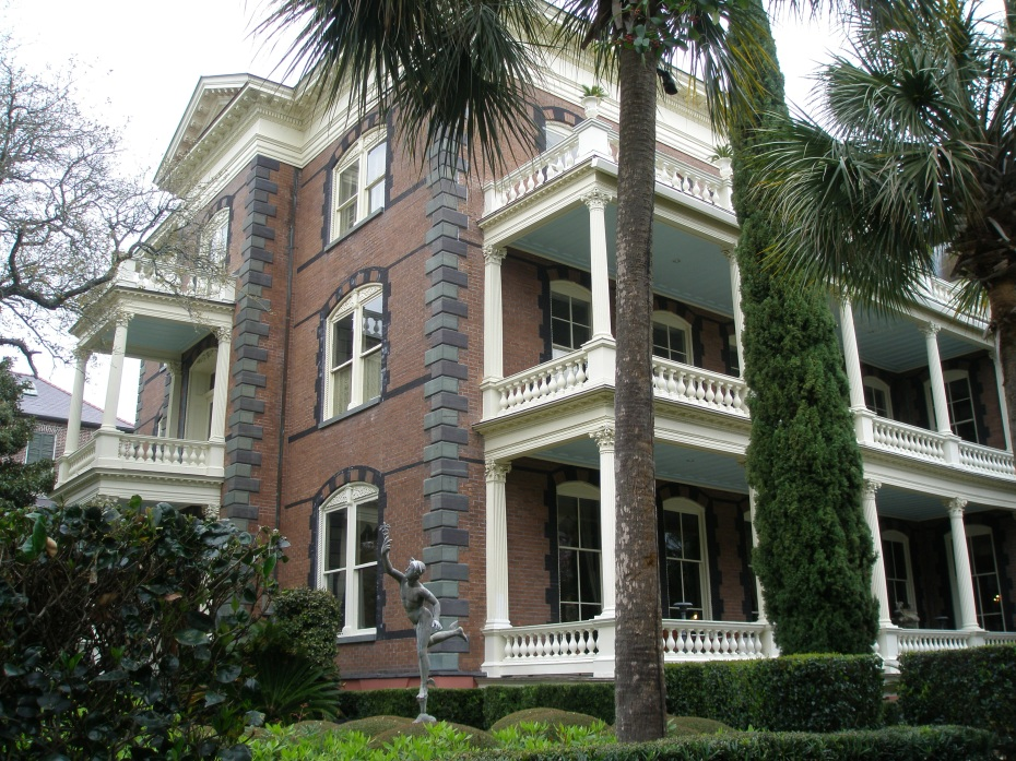 Calhoun Mansion, 16 Meeting Street. Constructed circa 1876, with 24,000 sq.ft. of living space, for George Walton Williams. With 25 rooms, this is the largest single-family residence in the city, and is now open as a Museum.